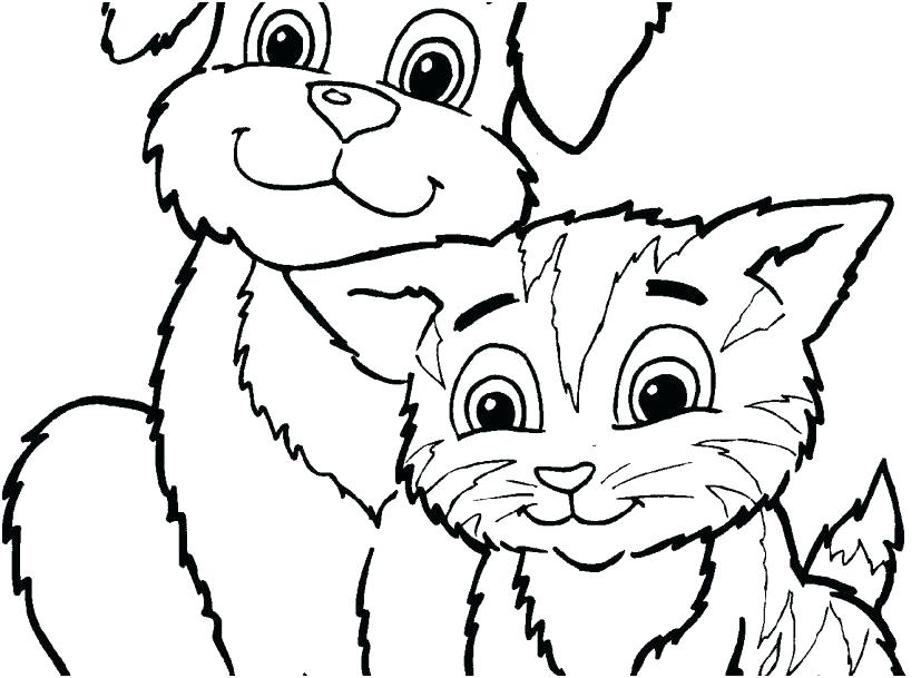 Cute Kitty Coloring Pages At Getdrawings Com Free For