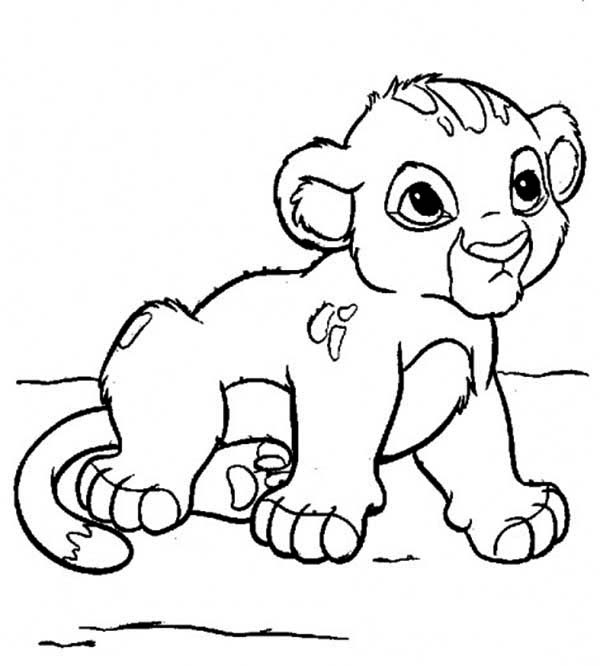 600x666 Cute Little Simba Coloring Page Download Print Online With Idea