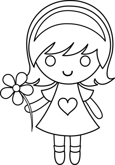 384x550 Shining Design Little Girl Coloring Pages Characters Printable