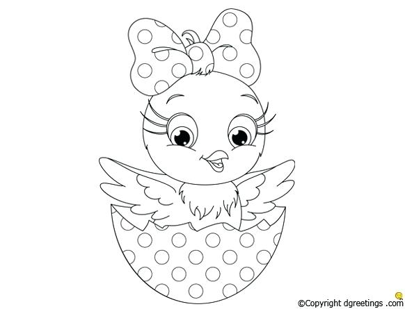 582x445 Chicks Coloring Pages Free Printable Baby Chick Chicks Coloring