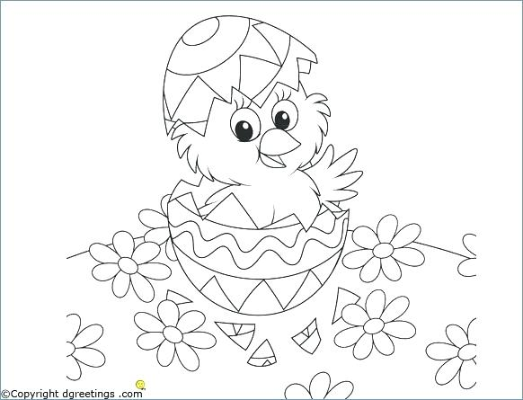 582x445 Coloring Pages Disney Cute Little Girl Egg Easter Chick Media