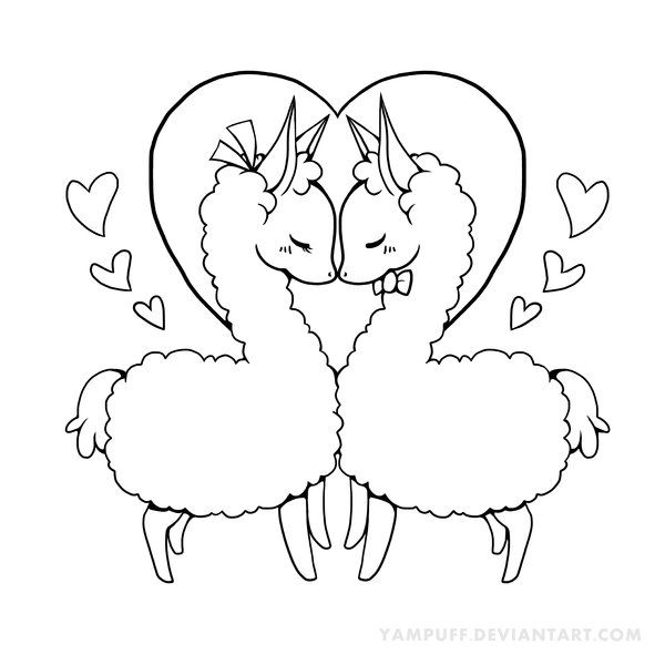 Cute Llama Coloring Pages At Getdrawings Free Download