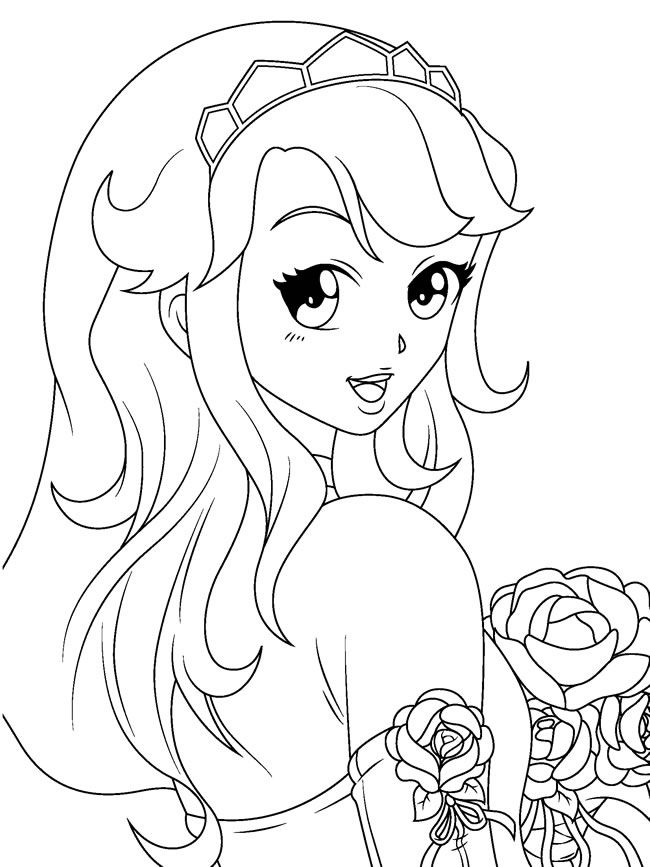 650x867 Cute Anime Girls Coloring Pages Manga Coloring Pages Coloring
