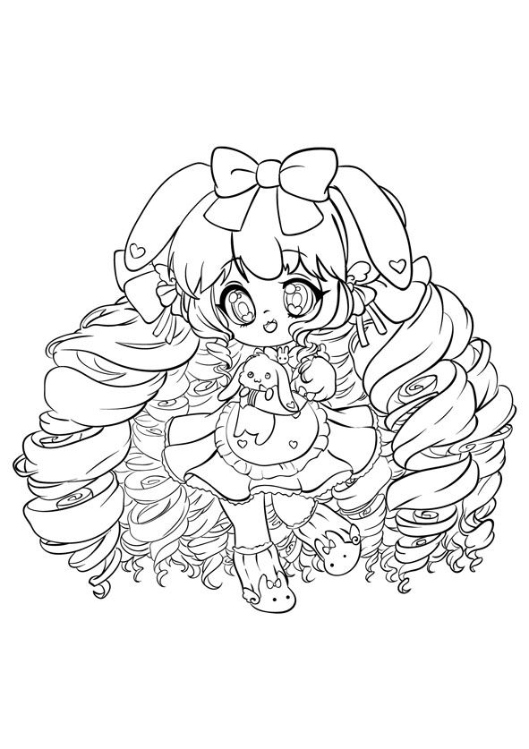 591x837 A Super Cute Chibi Coloring Book Gorgeous Coloring Book For Girls