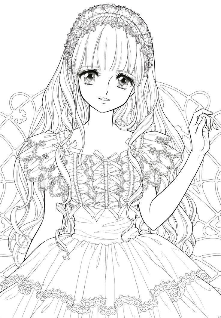 736x1057 Manga Coloring Pages Cute Manga
