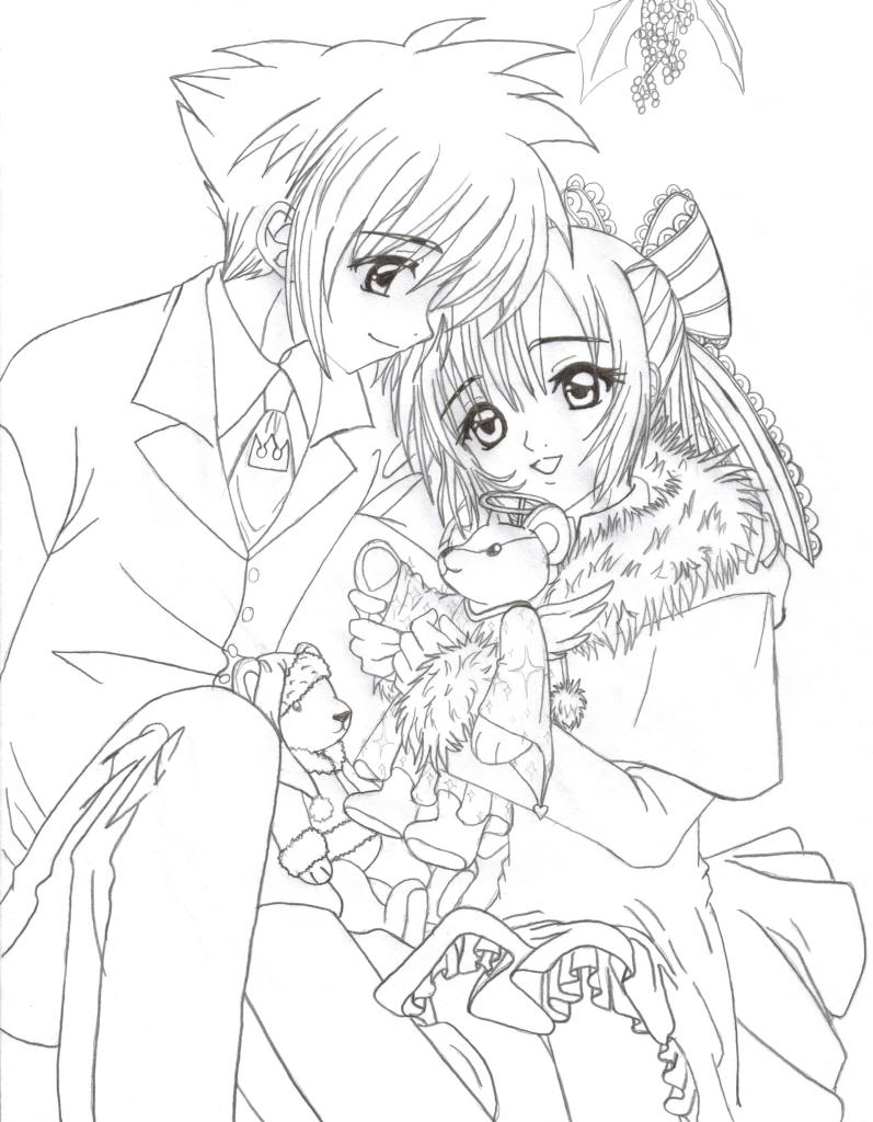 797x1024 Stylist And Luxury Anime Couples Coloring Pages Wolf Kissing Cute