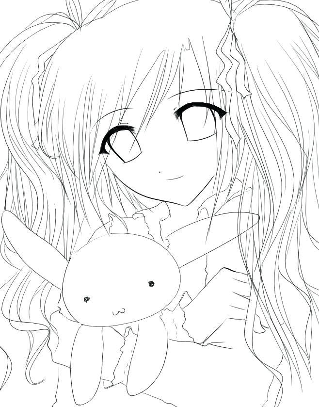 658x839 Anime Coloring Sheet