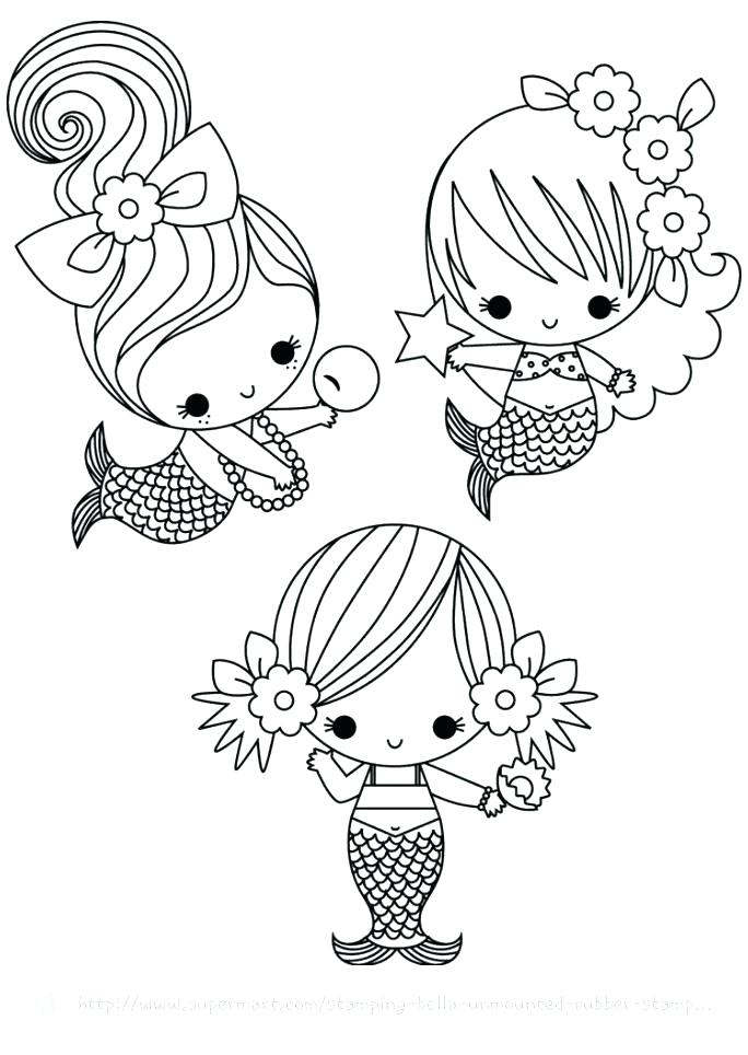 684x964 Cute Mermaid Coloring Pages Little Mermaids Coloring Pages One