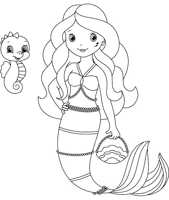 590x700 Cute Mermaid Coloring Pages Mermaid Coloring Pages Free Pin Page