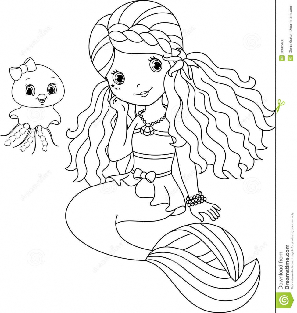 974x1024 Cute Mermaid Coloring Pages New In For Adults Prixducommerce