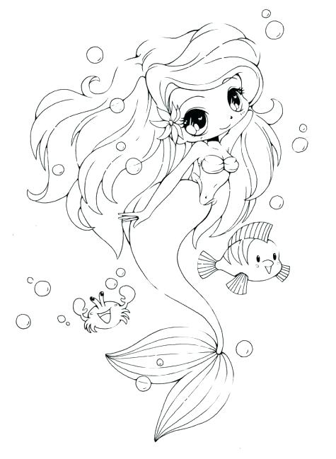 475x649 Good Cute Mermaid Coloring Pages With Additional Free Colouring