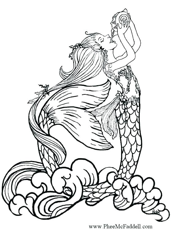 558x750 Little Mermaid Coloring Page Printable Printable Coloring Mermaid