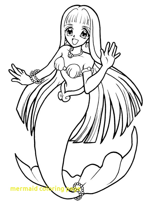600x800 Mermaid Coloring Page With Inspirational Cute Mermaid Coloring