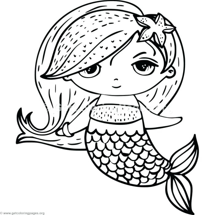 700x700 Mermaid Coloring Pages Simple Cute Mermaid Coloring Pages Cute