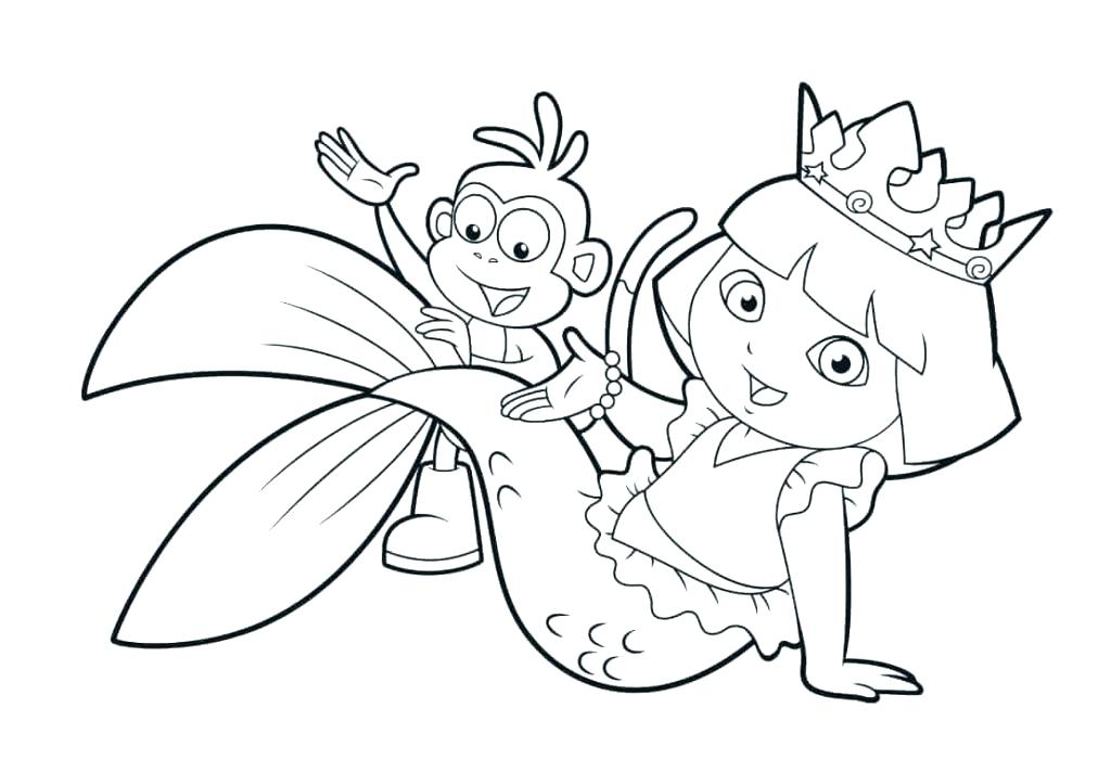 1024x701 Cute Mermaid Coloring Pages Cute Mermaid Coloring Pagess