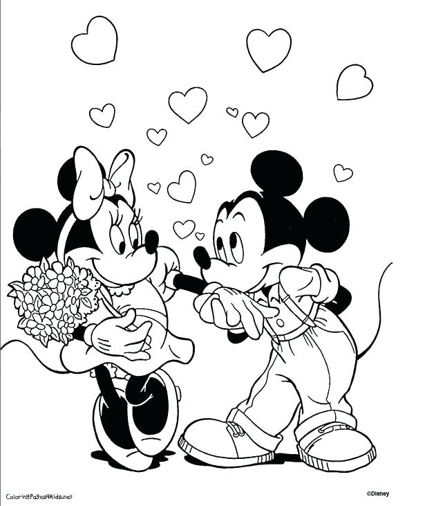 615x731 Minnie Mouse And Mickey Mouse Coloring Pages Mickey Mouse Mouse