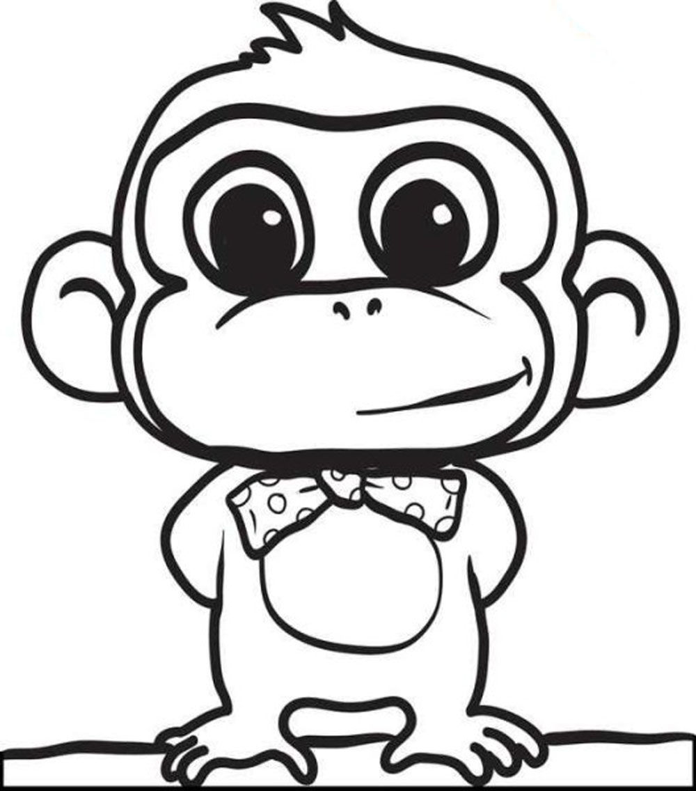 1000x1136 Baby Monkey Coloring Pages