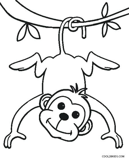 450x559 Monkey Coloring Pages For Preschoolers Medium Size Of Cute Monkey