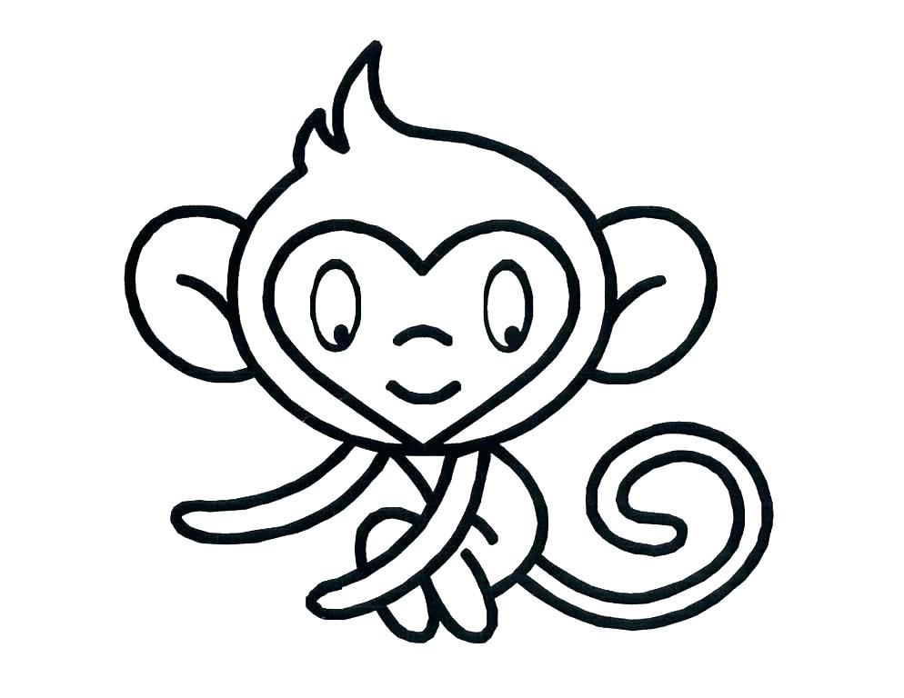 994x768 Cartoon Monkey Coloring Pages Cute Monkey Coloring Pages Coloring
