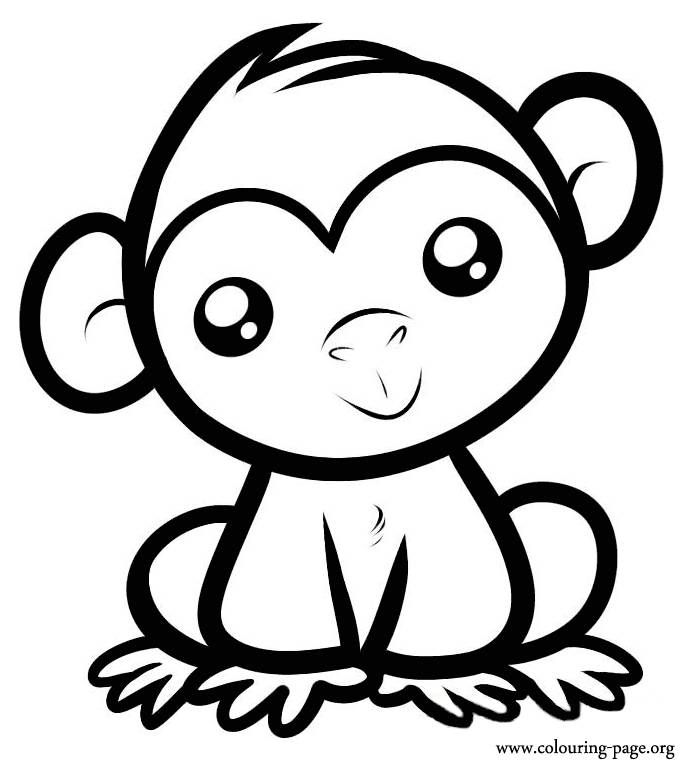 700x774 Cute Animal Coloring Pages Printables Cute Monkeys Coloring