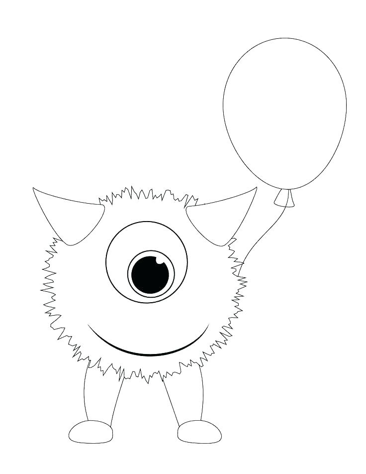 736x952 Cute Monster Coloring Pages Printable Page Size Click Here A Large
