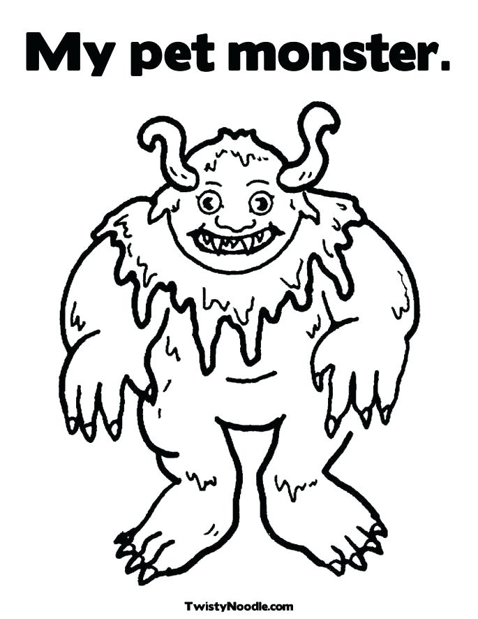 685x886 Monster Coloring Pages Color Monster Coloring Pages Cute Little