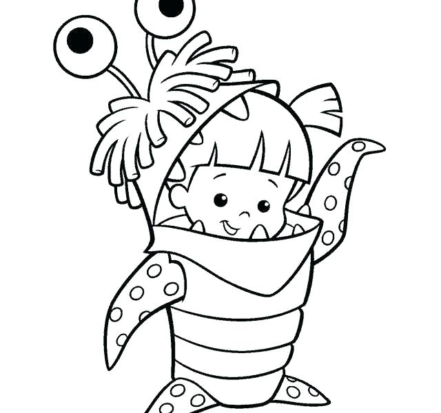 640x600 Printable Monster Coloring Pages
