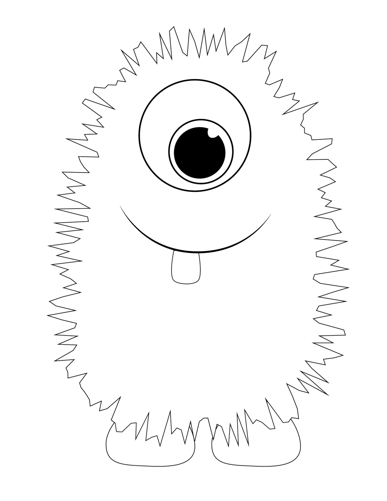 1236x1600 Cute Monster Coloring Pages