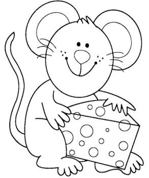 293x350 Cute Mouse Coloring Page