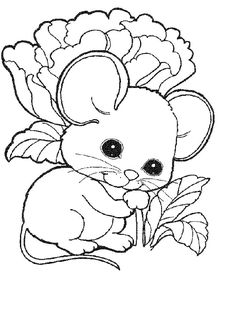 236x332 Cute Mouse Coloring Pages Free Kids Coloring Pages