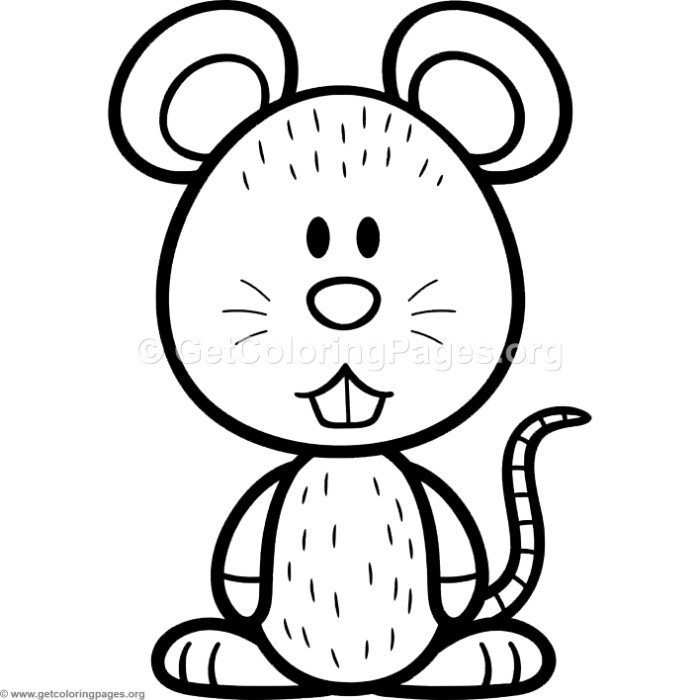 700x700 Little Cute Cartoon Mouse Coloring Pages