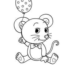 220x220 Mouse Coloring Pages
