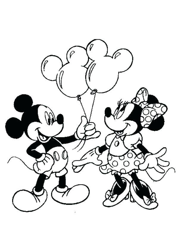 595x842 Minnie Mouse Coloring Page Free Printable Cartoon Mouse Colouring
