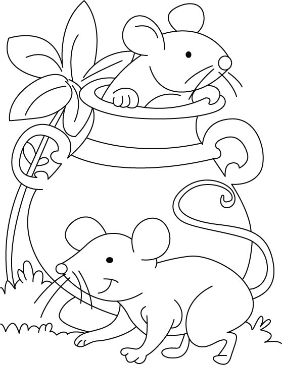 558x724 Mouse Coloring Page