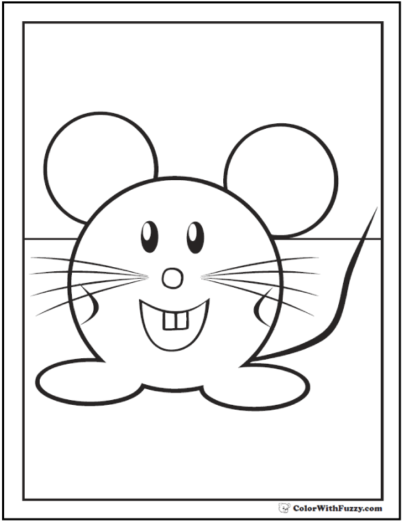 590x762 Mouse Coloring Pages To Print And Customize For Kids