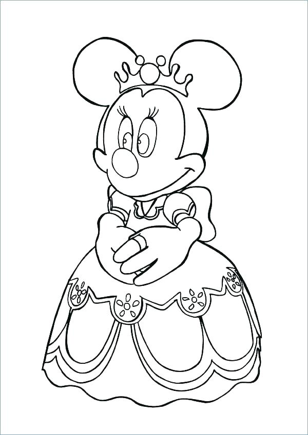 600x849 Mickey Mouse Coloring Book