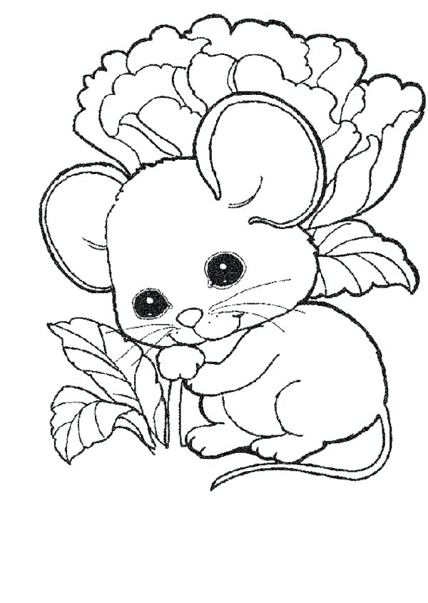 600x845 Cute Mouse Coloring Page