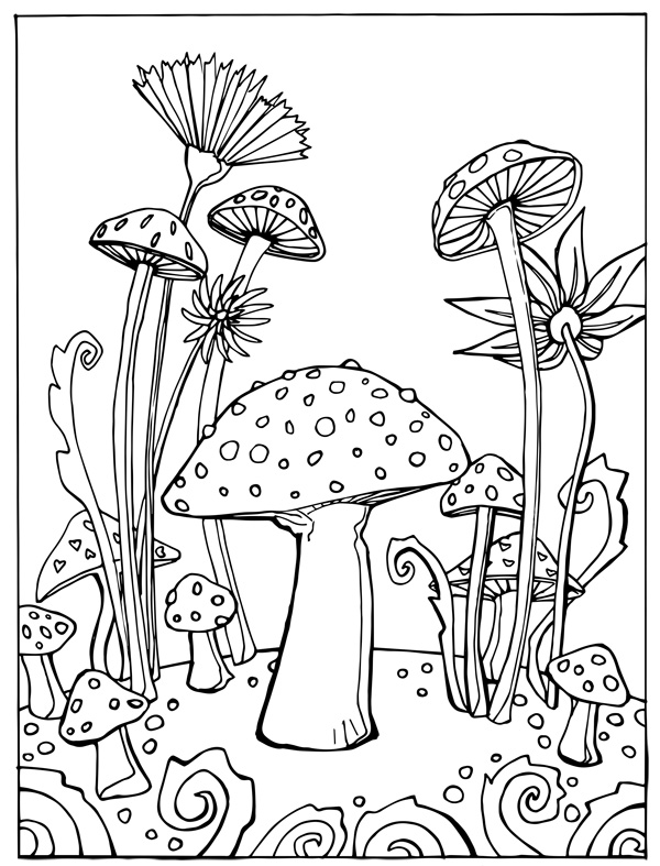 Cute Mushroom Coloring Pages At Getdrawings Free For