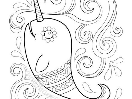 440x330 Narwhal Coloring Pages, Narwhal Whale Pictures, Pics, Images