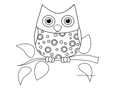 400x309 Cute Owl Coloring Pages