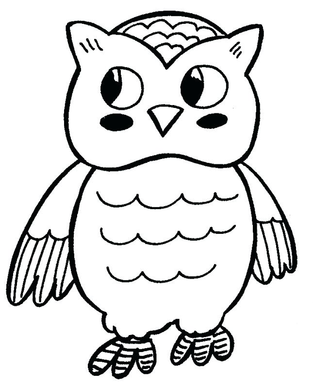645x800 Printable Owl Coloring Pages Cute Owl Coloring Pages To Print Free