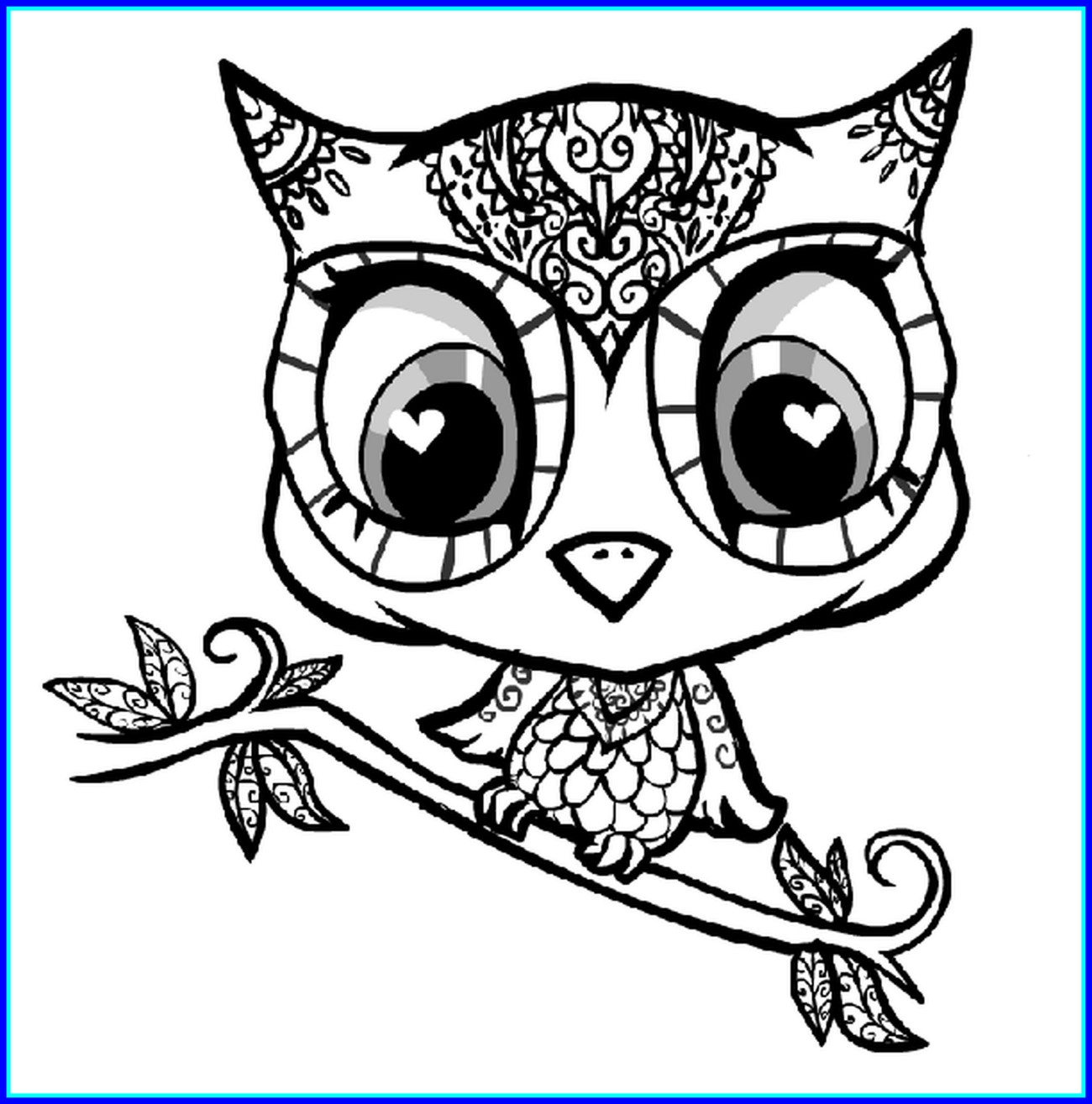 1300x1315 Stunning Cute Coloring Pages Best On For Owl To Print Style