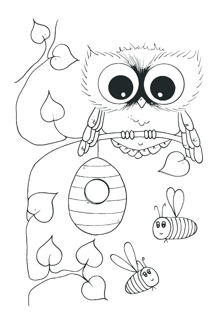 700x1030 Cartoon Owl Coloring Pages Free Owl Coloring Pages Cute Owl
