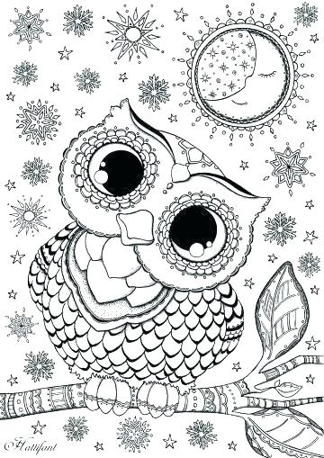 360x509 Cute Owl Coloring Pages For Adults