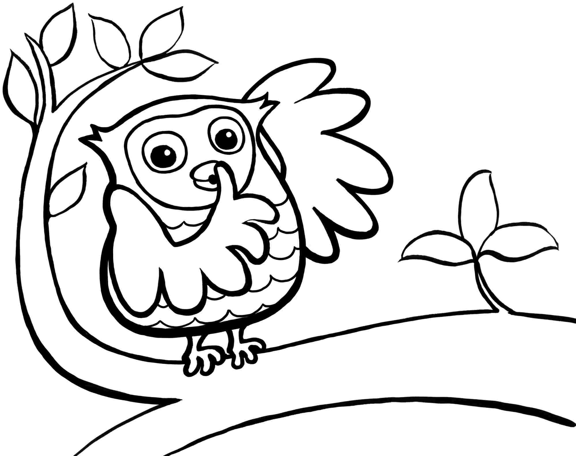 2000x1583 Cute Owl Coloring Pages Getcoloringpages Collection