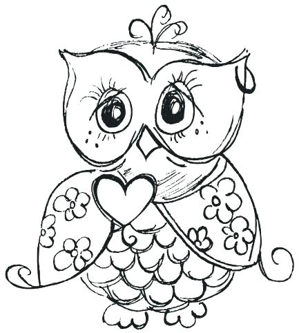 433x482 Cute Owl Coloring Pages To Print Page For Kids Cartoon Pictures