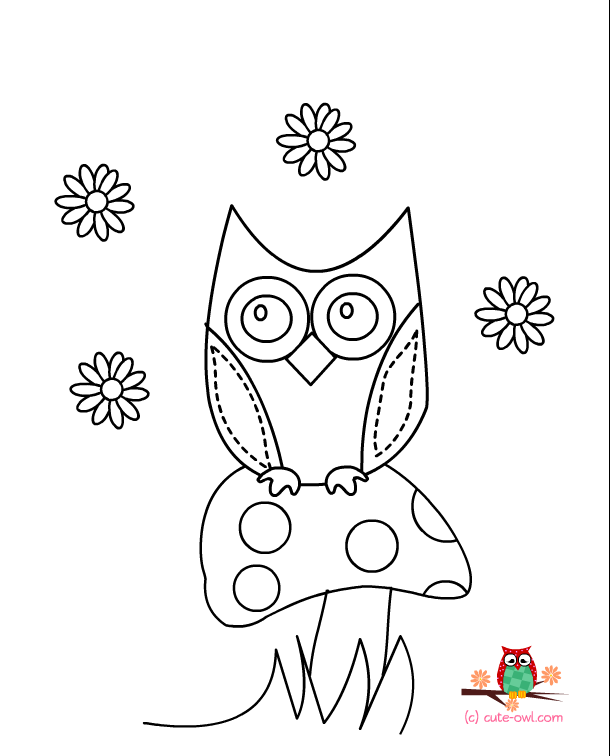 612x756 Free Printable Owl Coloring Pages For Kids