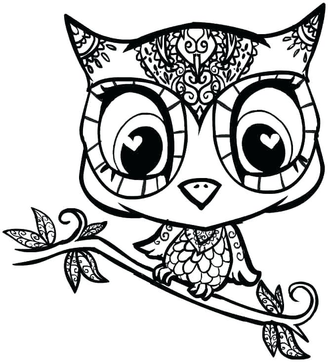 666x732 Girly Owl Coloring Pages Cute Owl Printable Coloring Pages Cute