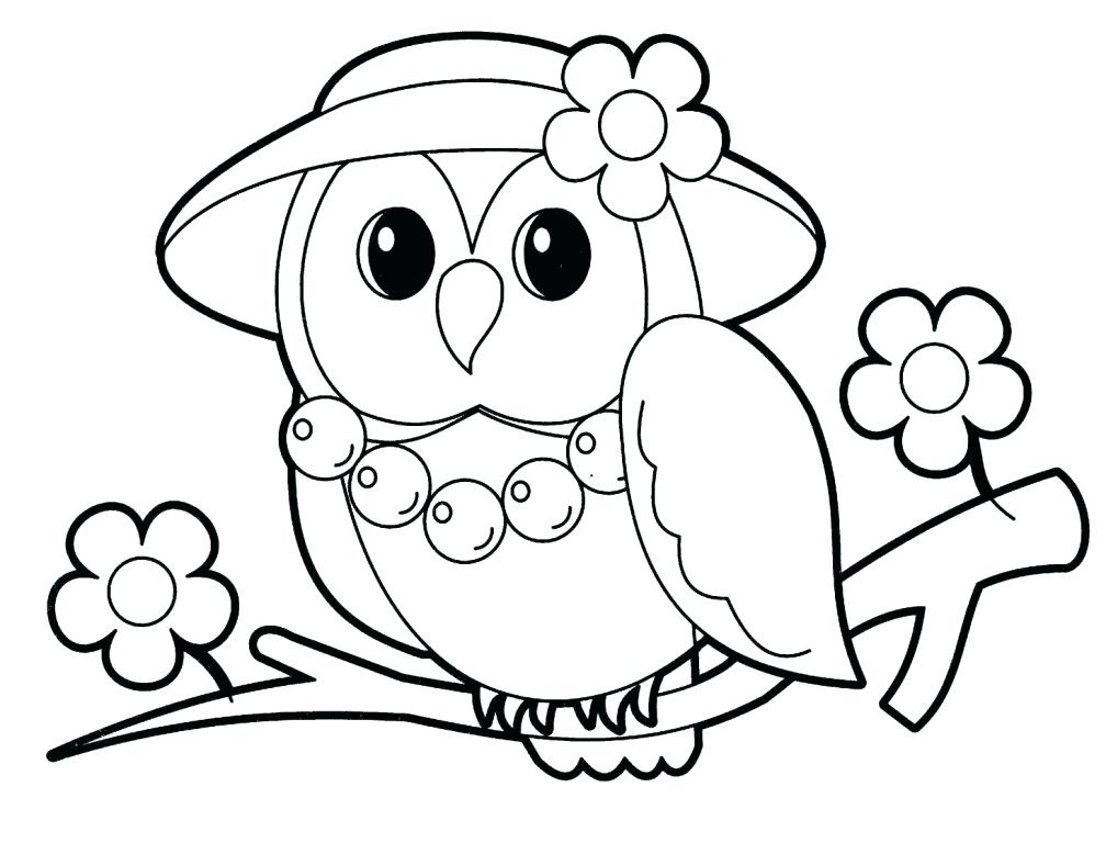 1008x768 Owl Coloring Pages For Preschoolers Printable In Funny Owl Owl