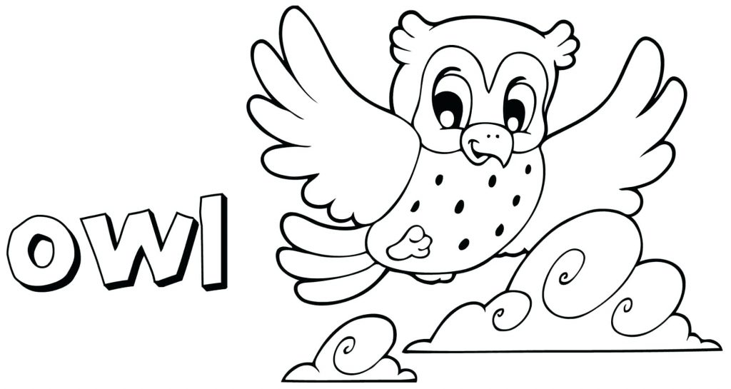 1024x545 Coloring Pages Cute Owl Coloring Pages Impressive Picture